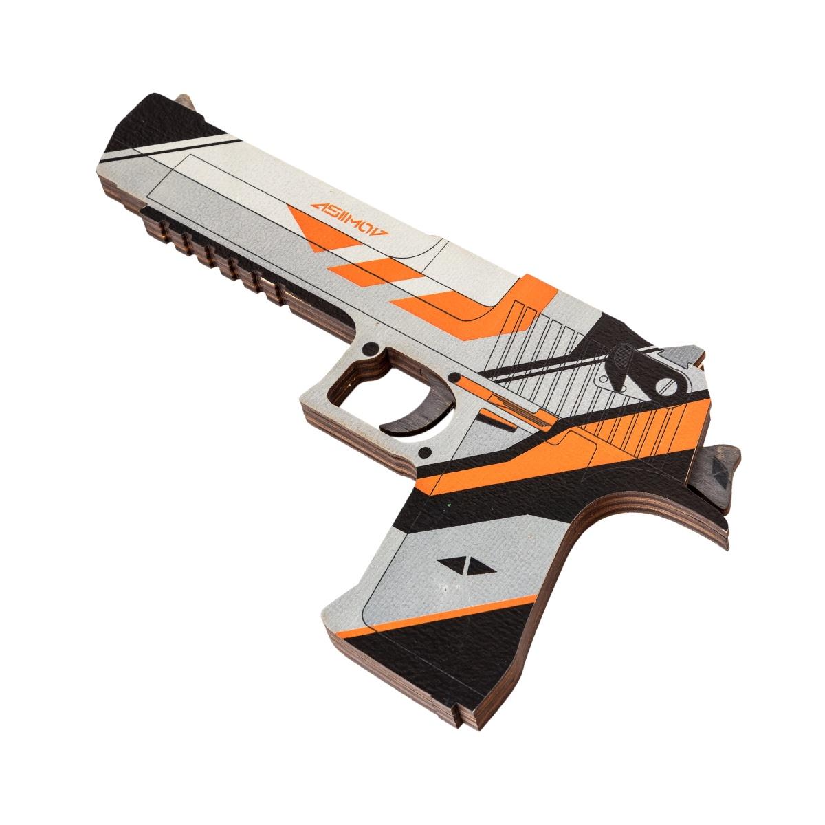 Пистолет игрушечный maskbro Дезерт Игл Азимов, 1120-0011120-001Легендарный Дигл Азимов из игры Counter Strike Global offensive. Desert Eagle Aзимов, выполненный из дерева станет отличным подарком Вашему парню - любителю КС.