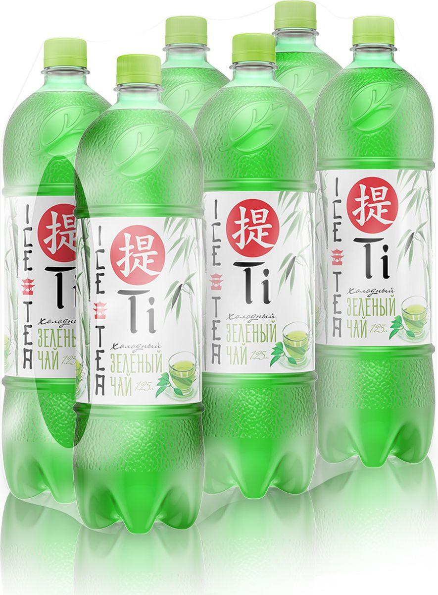 Холодный чай Калинов Родник Ti зеленый, 6 шт по 1,25 л цена
