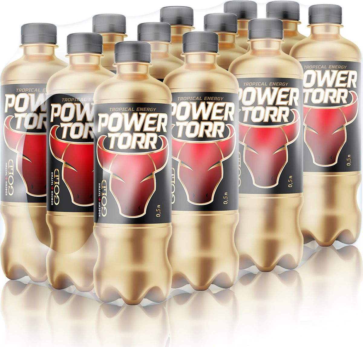 Энергетический напиток Power Torr Gold, 12 шт по 500 мл
