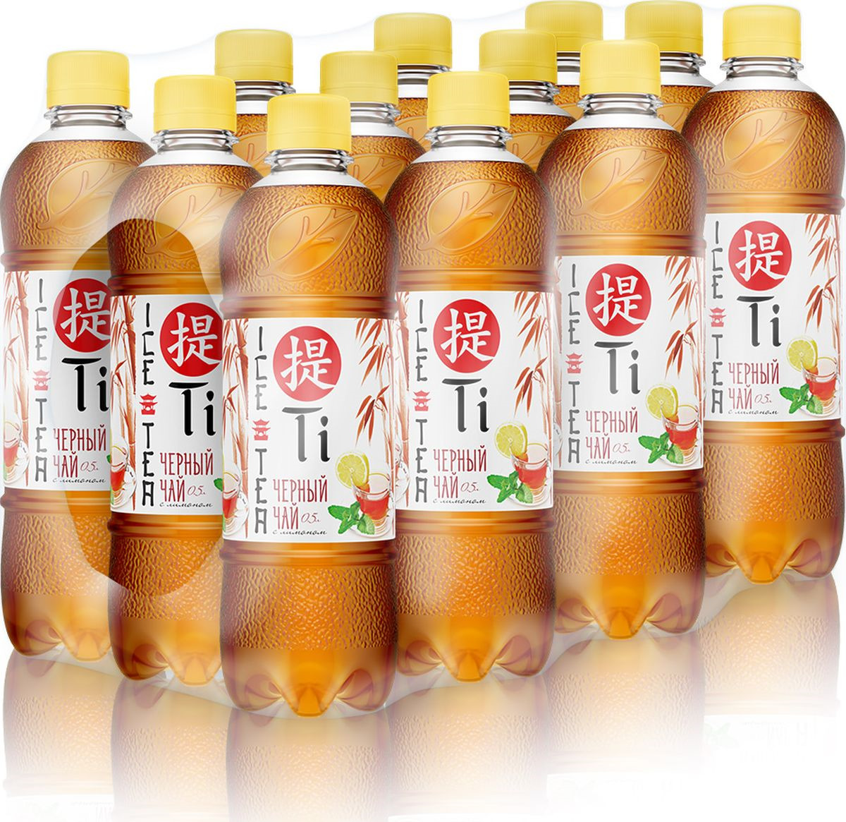 Холодный чай Калинов Родник Ti черный с лимоном, 12 шт по 500 мл вода калинов родник актив со вкусом малины 12 шт по 500 мл