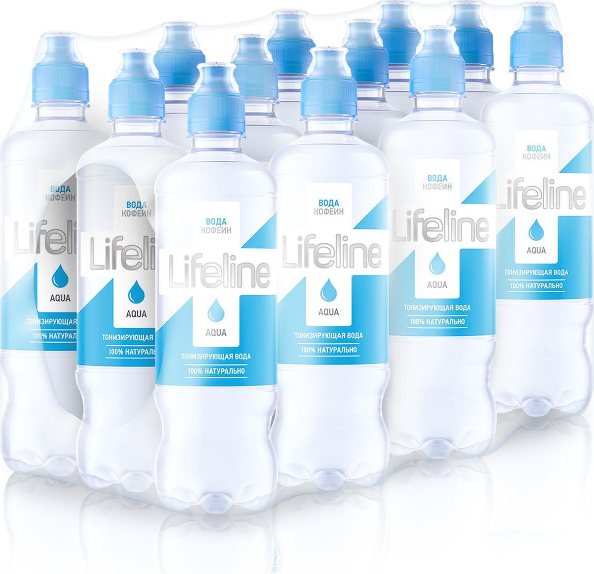 Вода Lifeline Aqua тонизирующая негазированная, с дозатором, 12 шт по 500 мл