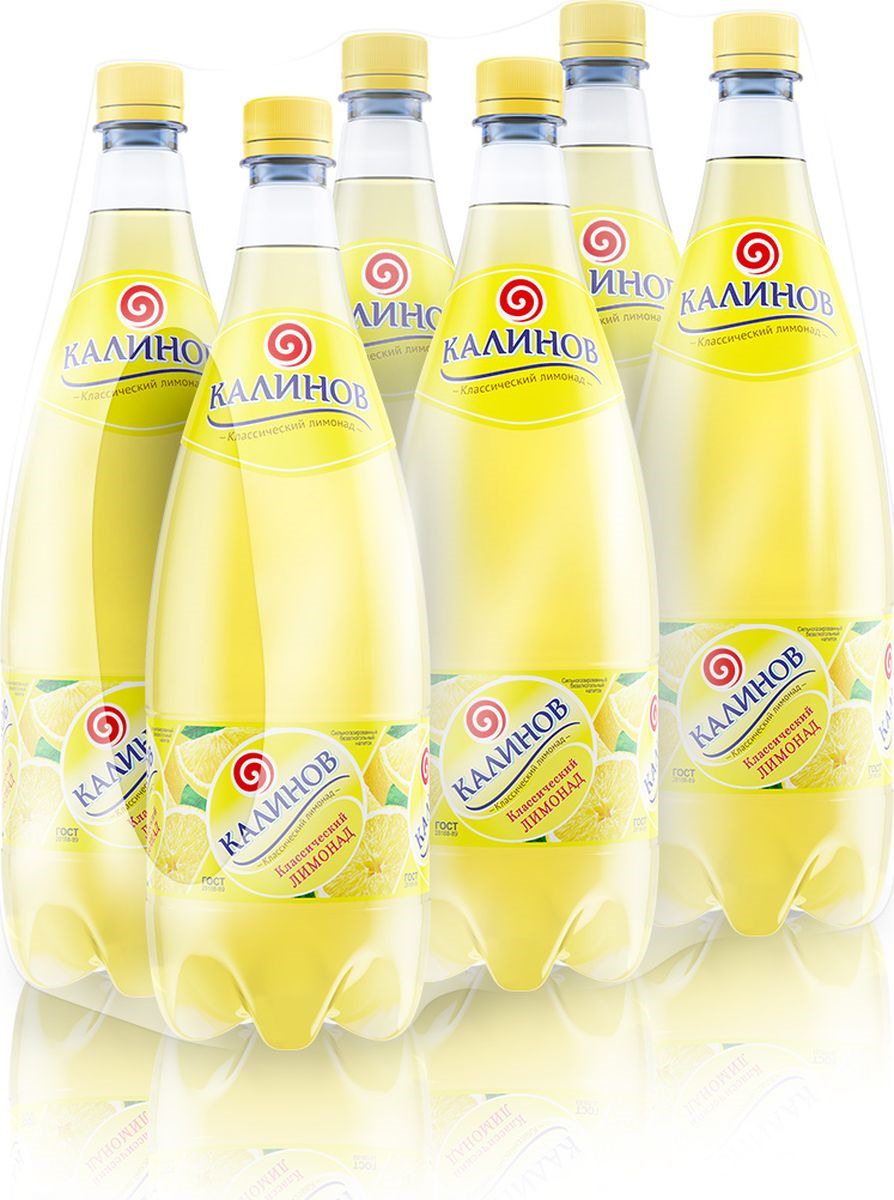 Лимонад Калинов Родник Классический, 6 шт по 1,5 л лимонад калинов родник дюшес 6 шт по 1 5 л