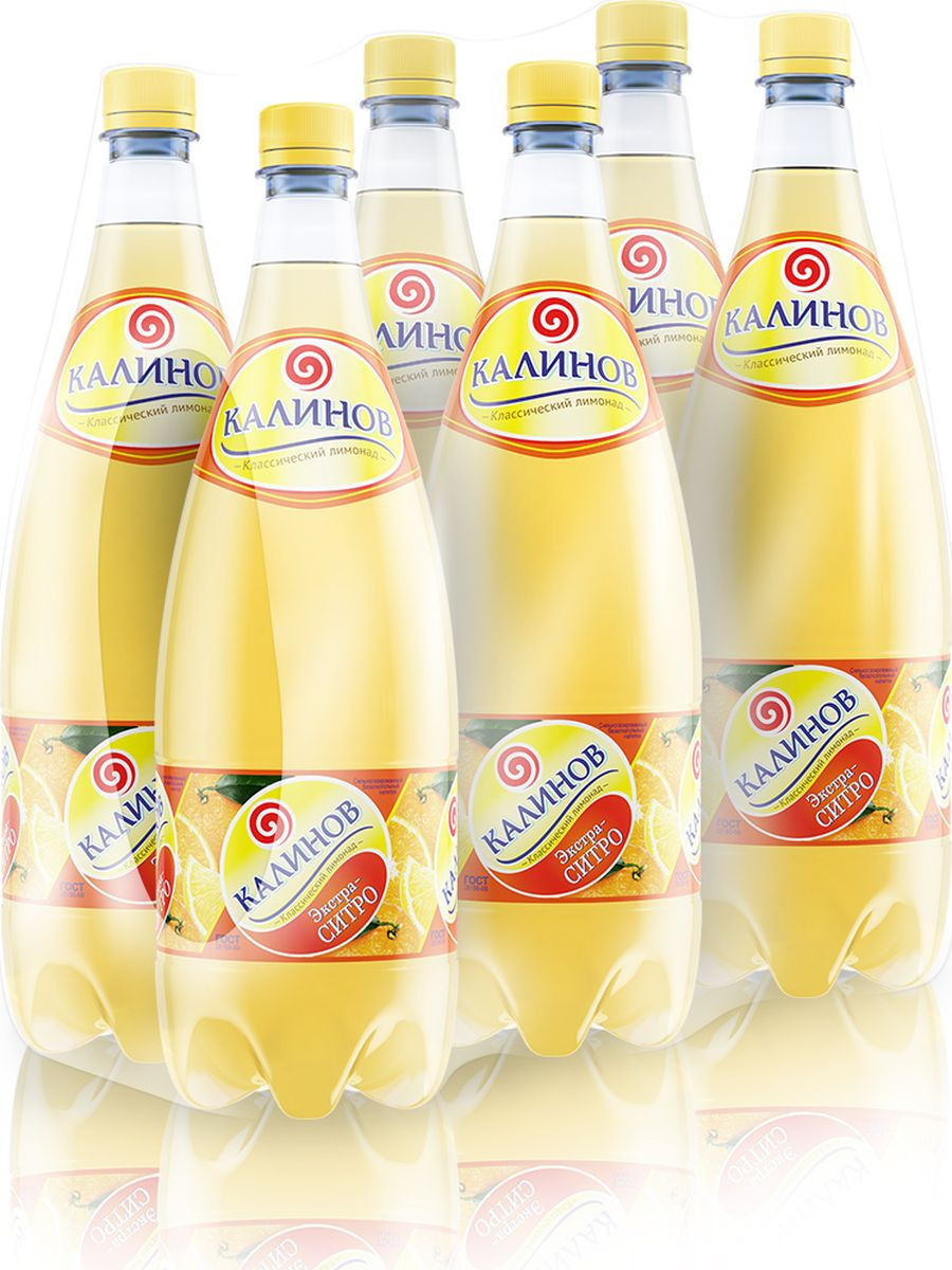 Лимонад Калинов Родник Ситро, 6 шт по 1,5 л калинов лимонад сказочный ключик 12 шт по 0 5 л