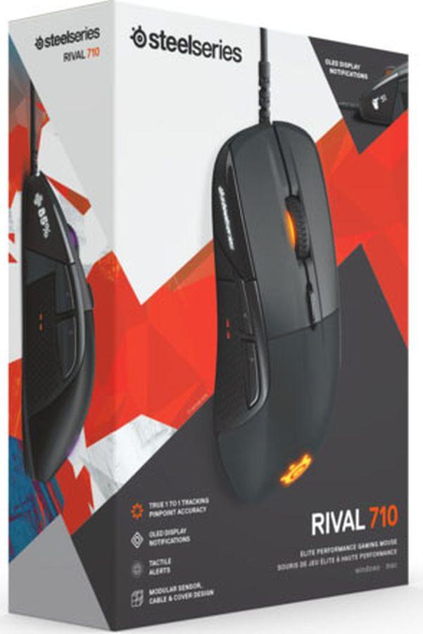 Игровая мышь Steelseries Rival 710, 62334, черный combating cw50 игровая мышь профессиональная игровая мышь