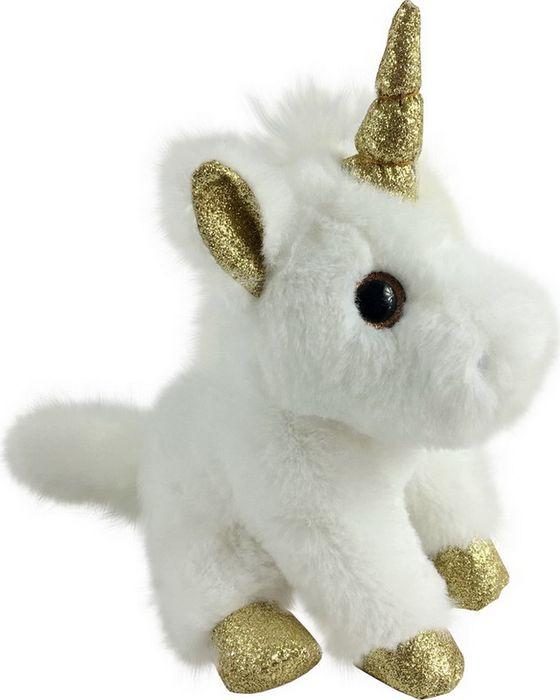 Мягкая игрушка ABtoys Единорог с золотыми копытами, ушками и рогом, M095, белый, 15 см мягкая игрушка abtoys единорог с серебряными копытами ушками и рогом m096 белый 15 см