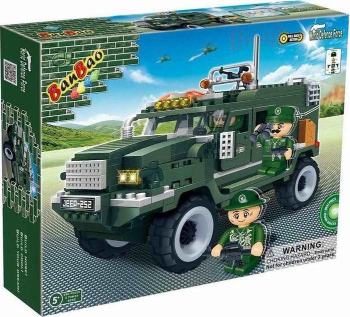 """Пластиковый конструктор BanBao """"Военный джип"""", 8252пц"""