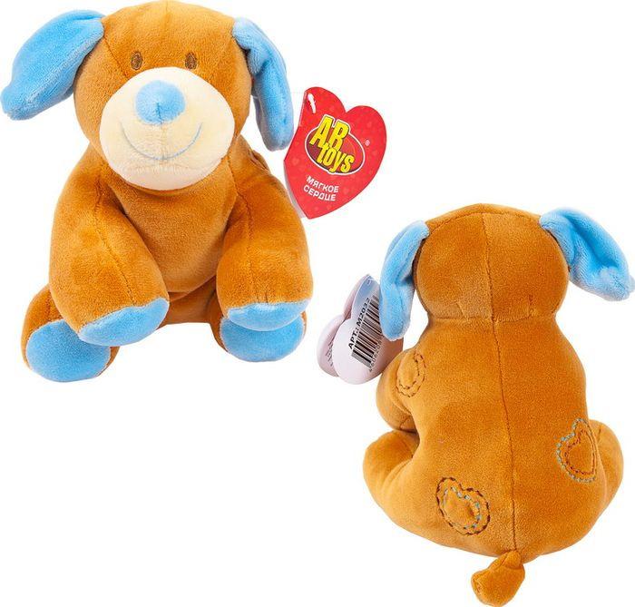 Мягкая игрушка ABtoys Собака, M2032, 14 см