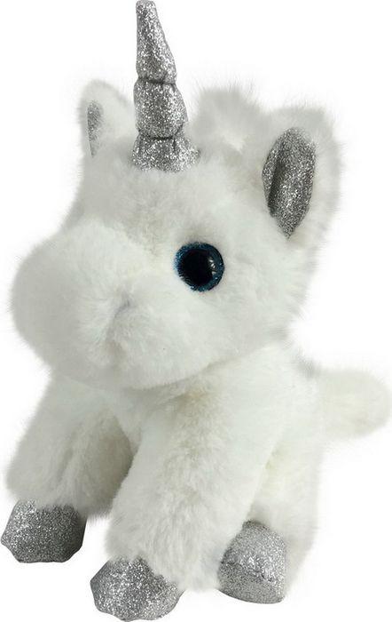 Мягкая игрушка ABtoys Единорог с серебряными копытами, ушками и рогом, M096, белый, 15 см мягкая игрушка abtoys единорог с серебряными копытами ушками и рогом m096 белый 15 см