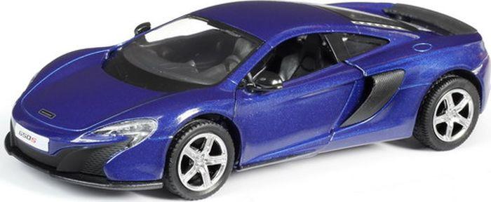 Машинка Uni-FortuneToys RMZ City McLaren 650S, масштаб 1:32, 554992-BLU554992-BLUЕсли ваш ребенок коллекционирует только роскошные суперкары, то этот Макларен прекрасно впишется в элитный автопарк. У него такой же красивый кузов, как и у прототипа, а еще игрушка оснащена вращающимися колёсиками и инерционным механизмом, что позволяет катать ее и придавать ускорение.Особенности:- Благодаря этой игрушке в коллекции мальчишек появится реалистичная копия красивого автомобиля - McLaren 650S.- Машинка повторяет не только характерные изгибы кузова модели, но и изящную радиаторную решетку, а также фары.- Игрушка дополнена эффектно открывающимися дверцами, поэтому у детей есть возможность изучит салон с сиденьями и приборной панелью.- У машинки есть свободно вращающиеся колеса с низкопрофильными покрышками и встроенный инерционный механизм, позволяющий придать ускорение игрушке оттягиванием ее назад.- Макларен сделает сюжетные игры мальчишек еще интереснее, ведь в них появится такой роскошный и правдоподобный автомобиль, а еще ребенок потренирует при этом фантазию и мелкую моторику.- Игрушка выполнена из сертифицированного ударопрочного пластика и металла, а стойкие красители позволят машинке надолго сохранить привлекательный вид.