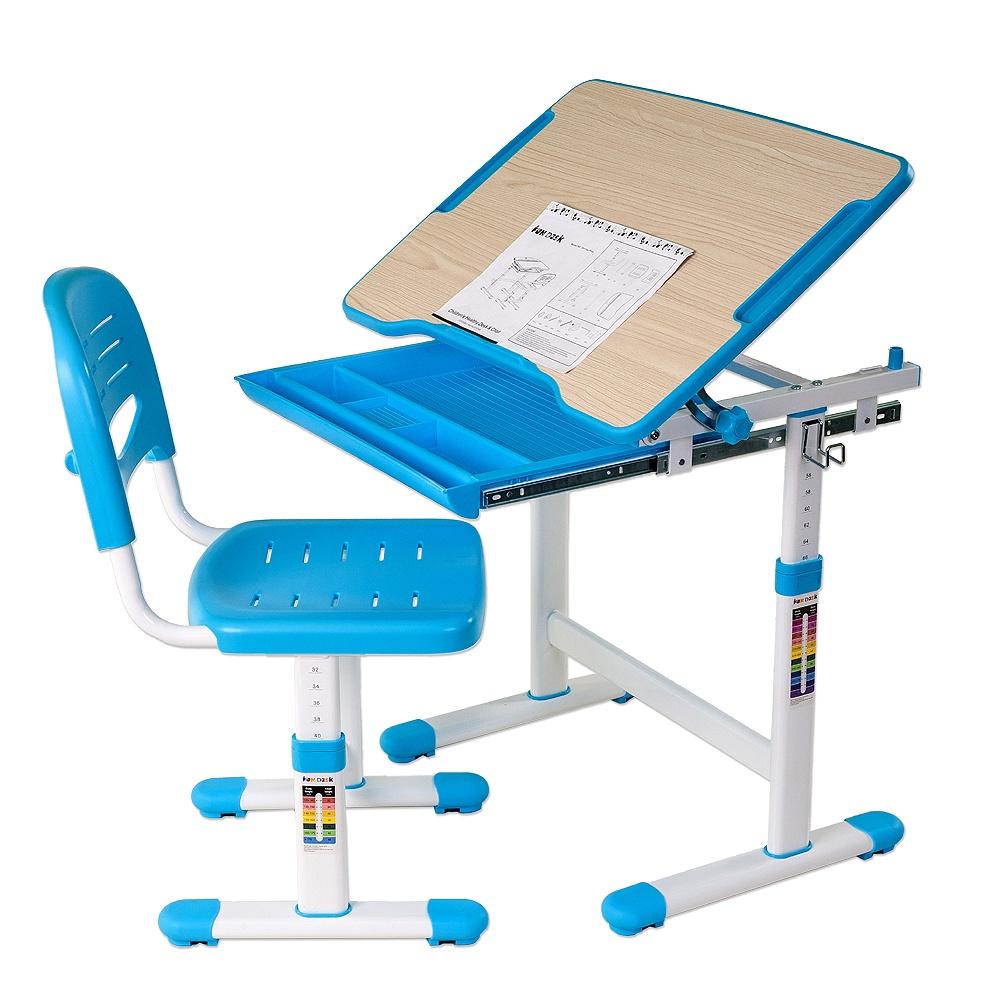 Набор детской мебели FunDesk Piccolino Blue, голубой
