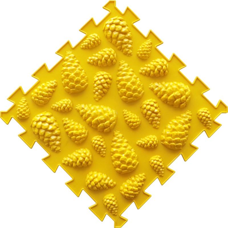 Коврик-пазл Орто Пазл шишки жёсткие, шж(ж) желтый