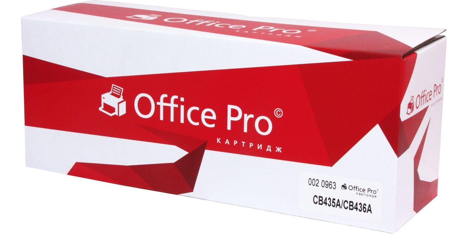 Картридж Office Pro© №35A CB435A, черный, для лазерного принтера картридж profiline pl cb435a cb436a для hp lj p1005 p1006 p1007 p1008 p1505 p1505n m1120 m1120n m1522nf m1522n 2000стр