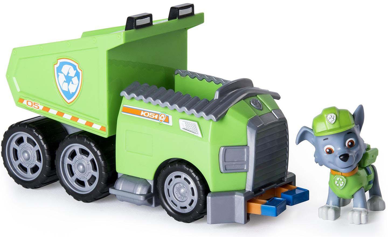 Paw Patrol Игровой набор Машинка спасателя и щенок Rocky цвет зеленый серый