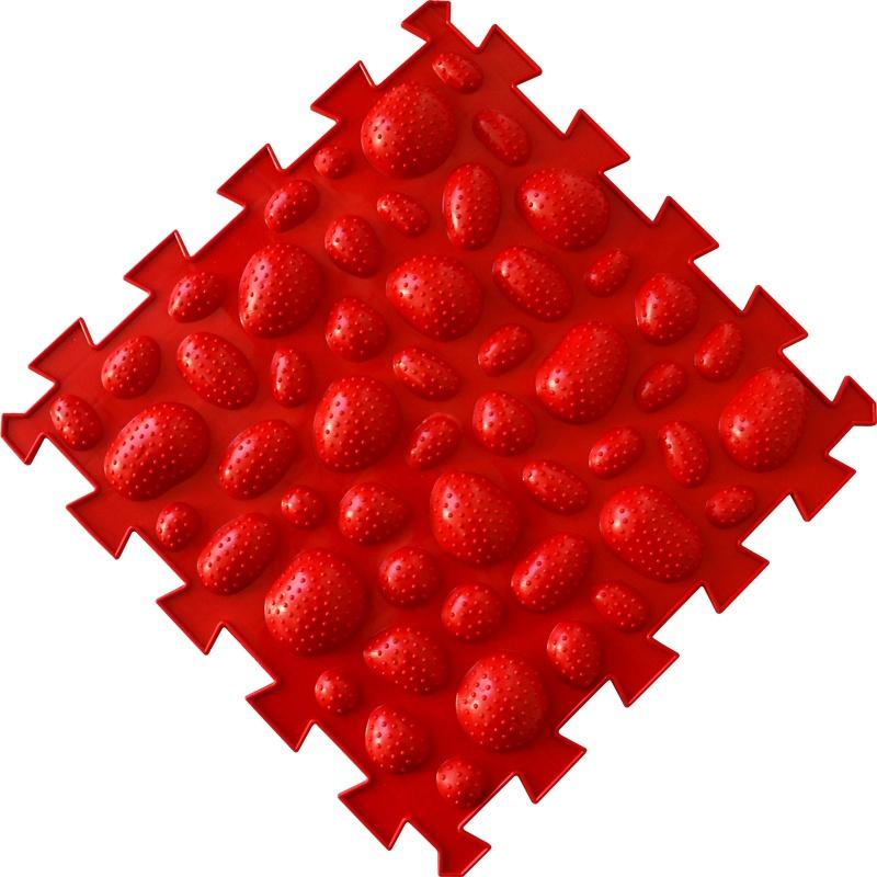 Коврик-пазл Орто Пазл морские камни жёсткие, мкж(к) красный