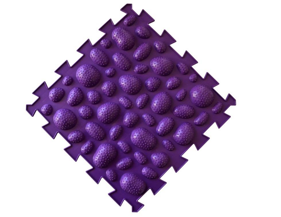 Коврик-пазл орто пазл морские камни жёсткий, мкж(ф) фиолетовый