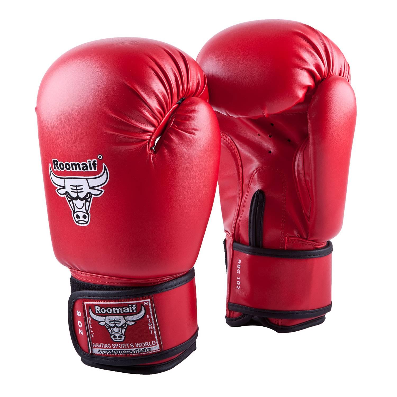 Боксерские перчатки Roomaif RBG-102, RBG-102-04, красный