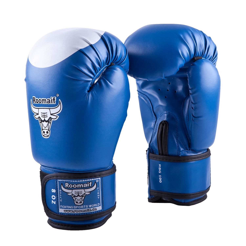 Боксерские перчатки Roomaif RBG-100, RBG-100-05, синий