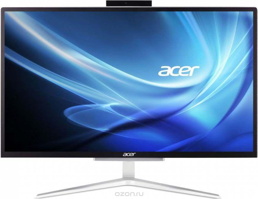 Моноблок Acer Aspire C22-820, DQ.BCMER.001, 21.5, серебристый моноблок acer aspire c22 860 21 5 цвет серебристый