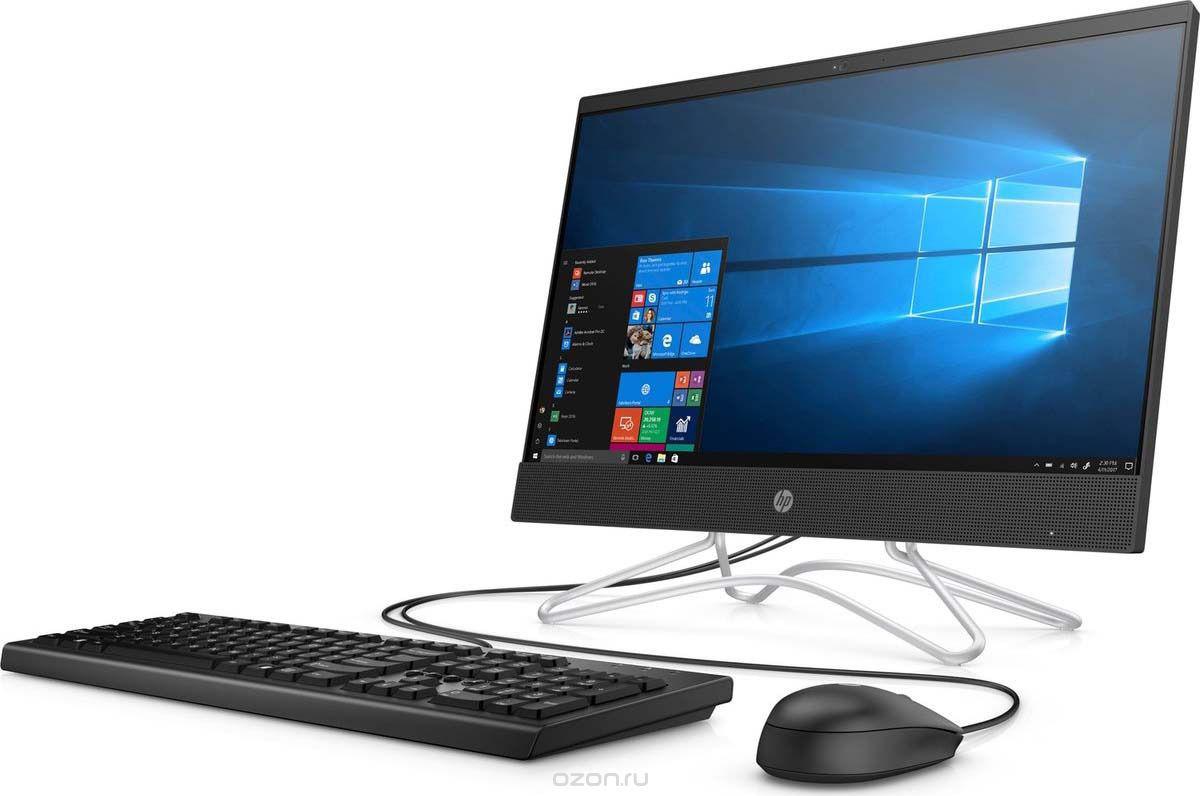 Моноблок HP 200 G3, 3VA36EA, 21.5, черный неттоп hp 260 g2 mini i3 6100u 2 3 4gb ssd256gb hdg520 windows 10 professional 64 wifi bt 65w клавиатура мышь черный 2тр12еа
