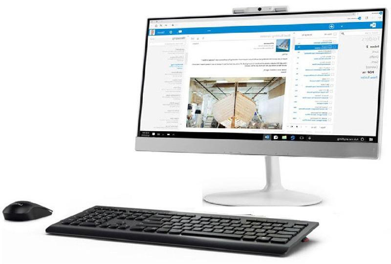 Моноблок Lenovo V410z, 10QW0007RU, 21.5, белый моноблок lenovo v410z 22 fullhd core i3 7100t 4gb 500gb dvd kb m win10pro white