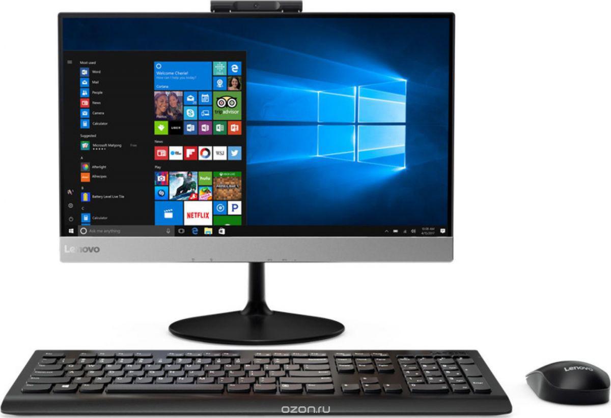 Моноблок Lenovo V410z, 10QV001BRU, 21.5, черный моноблок lenovo v410z 21 5 full hd i3 7100t 3 4 4gb 500gb 7 2k hdg630 dvdrw cr noos gbiteth wifi bt клавиатура мышь cam белый 1920x1080