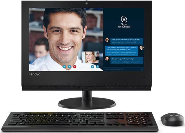 Моноблок Lenovo V310z, 10QG001URU, 19.5, черный моноблок lenovo v410z 21 5 full hd i3 7100t 3 4 4gb 500gb 7 2k hdg630 dvdrw cr noos gbiteth wifi bt клавиатура мышь cam белый 1920x1080