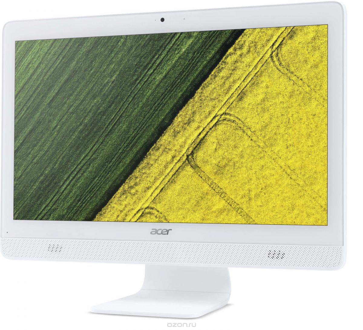 Моноблок Acer Aspire C20-820, DQ.BC6ER.003, 19.5, белый моноблок acer aspire c20 720 dq b6zer 009 белый