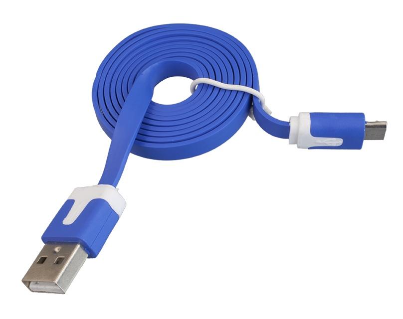 USB-Кабель Navitoch плоский microUSB, SG209, узкий синий 1м интернет через wifi ноутбука