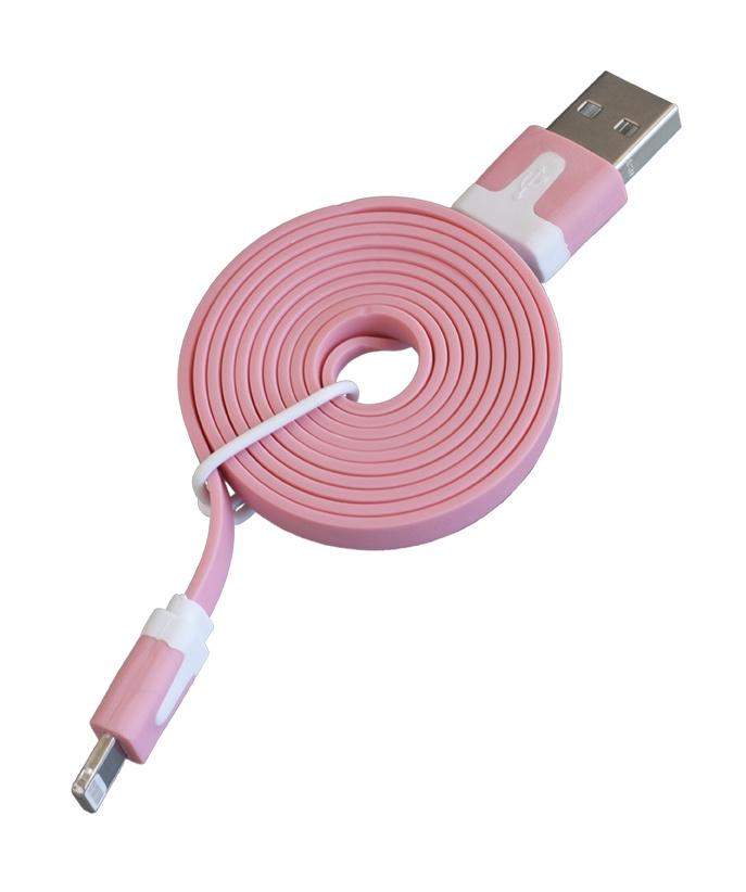 Кабель Navitoch Lightning/8pin, розовый