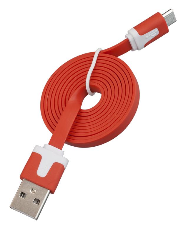USB-Кабель Navitoch iPhone 5, SG205, плоский узкий красный 1м