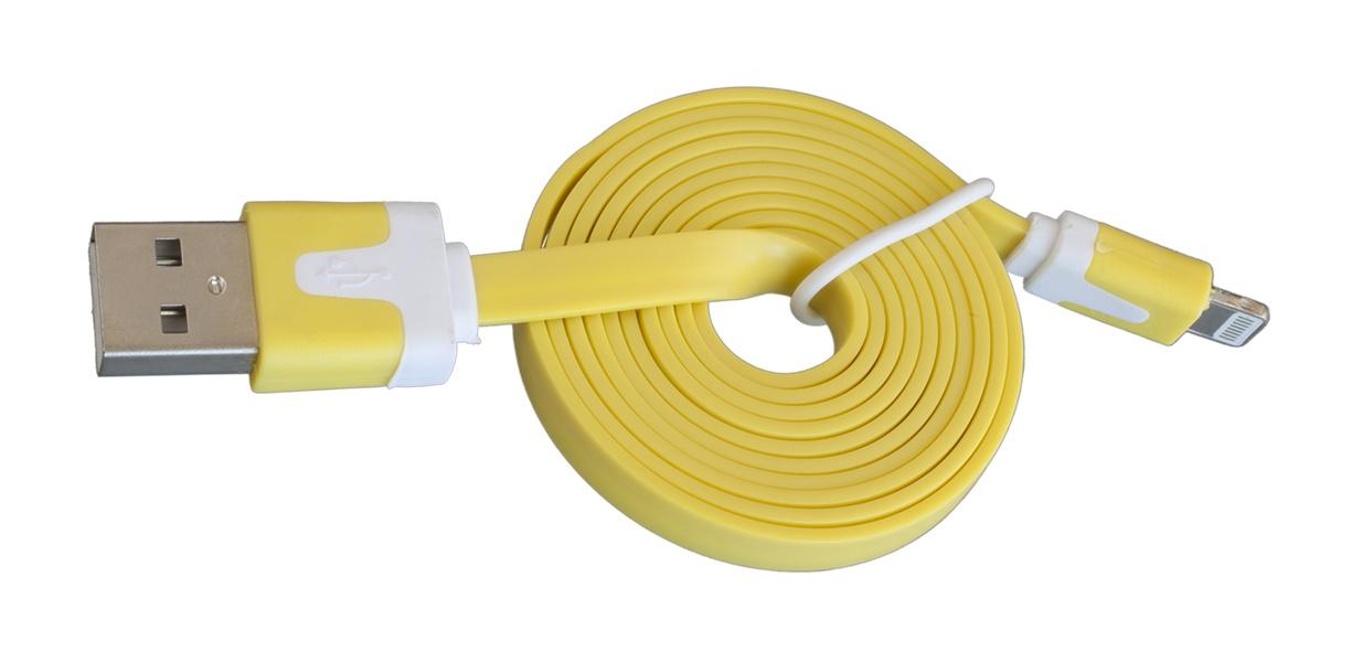 Кабель Navitoch Lightning/8pin, желтый интернет через wifi ноутбука