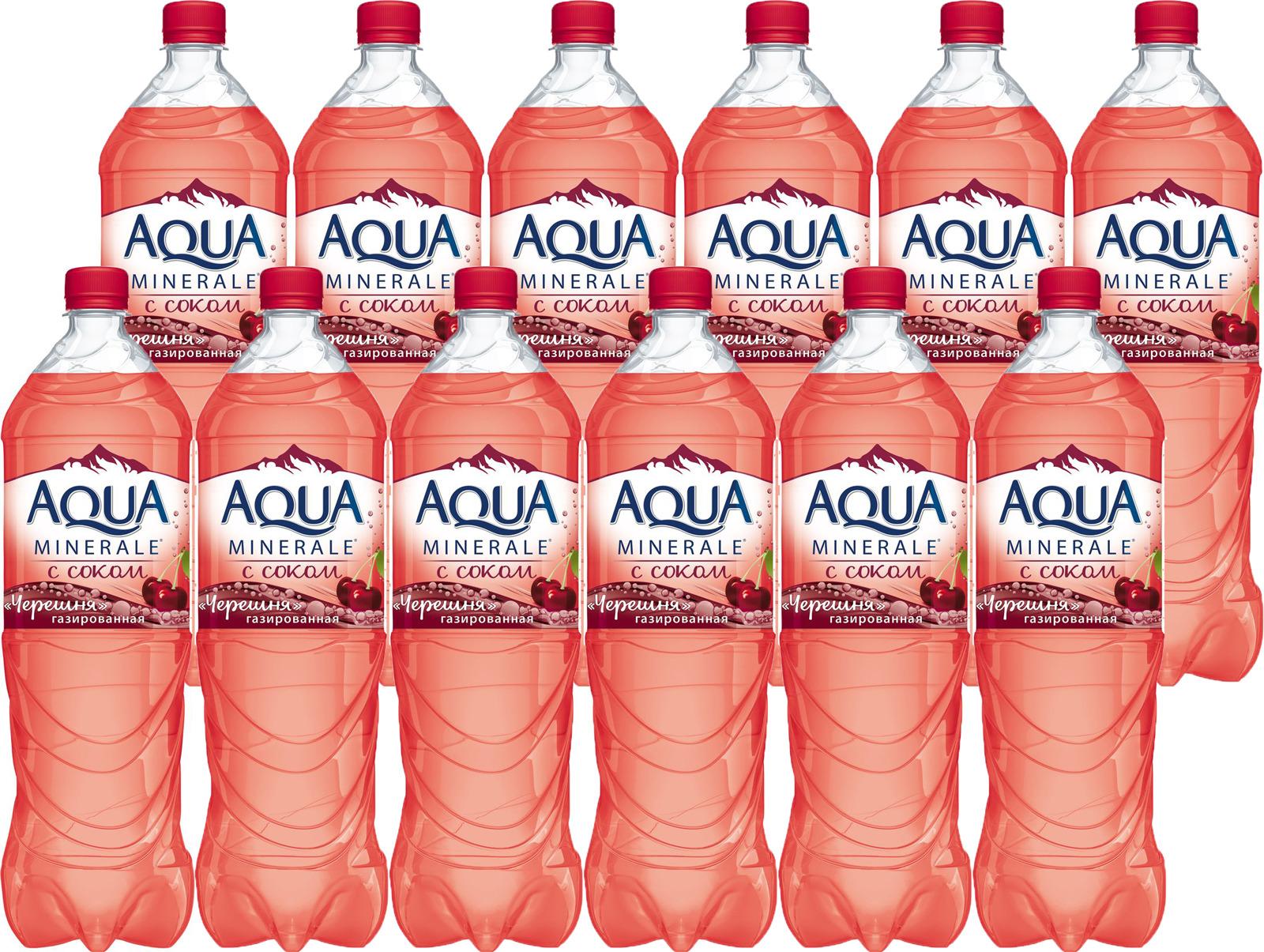 Вода Aqua Minerale Черешня, с соком, 1,5 л по 6 шт wicked aqua candy apple 60 мл с ароматом сахарного яблока