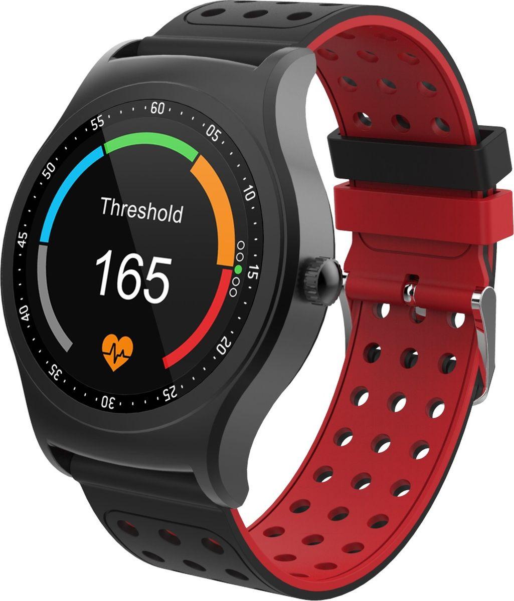 Умные часы Krez Pro, черный, красный цена и фото