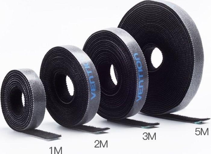 Стяжка для кабеля Vention KAABA, черный, 1 м vention vww y248 black стяжка для кабеля