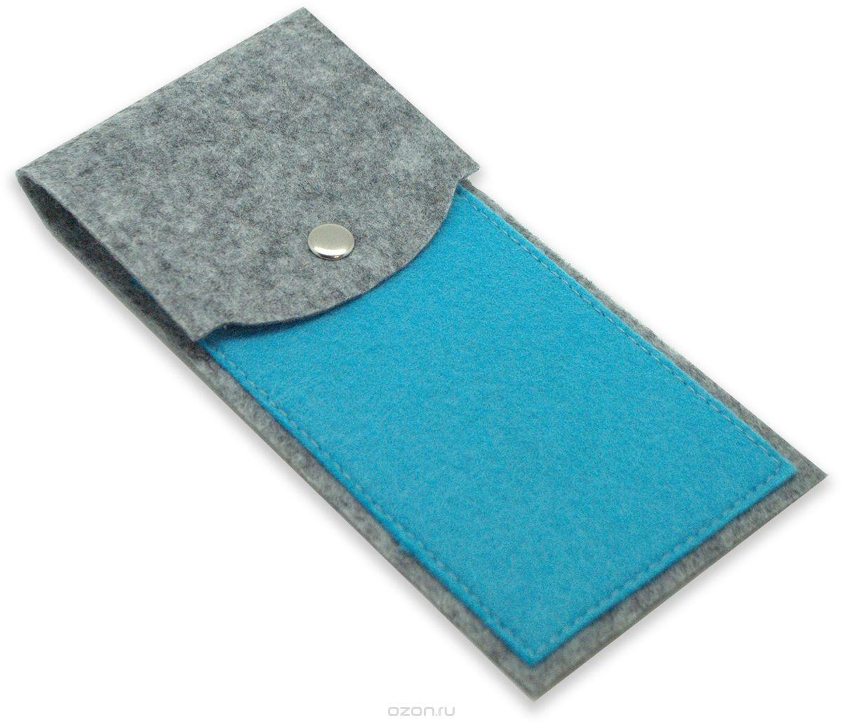 Пенал Feltrica вертикальный серо-голубой, 4627130654475 feltrica пенал вертикальный