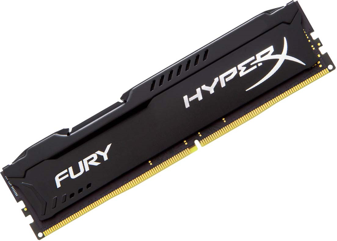 Модуль оперативной памяти Kingston HyperX Fury DDR4 DIMM, 16GB, 2933MHz, CL17, HX429C17FB/16, black