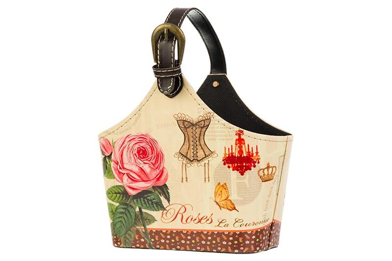 Органайзер для мелочей и косметики EL Casa Roses, 171936, бежевый, коричневый, красный el casa косметичка сумочка розовая