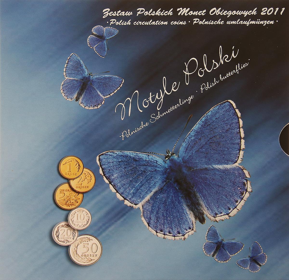 Набор из 6 монет Бабочка в буклете. Польша. 2011 год памятные монеты республики польша 2 злотых том 3