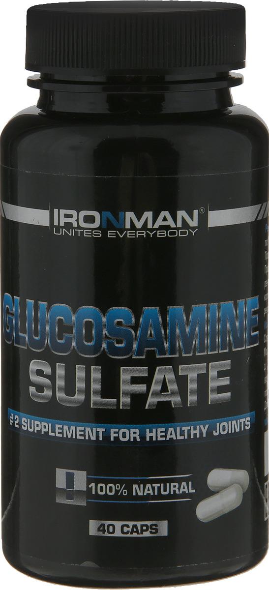 Глюкозамин Ironman Глюкозамина Сульфат, 40 капсул глюкозамин gnc triflex 120