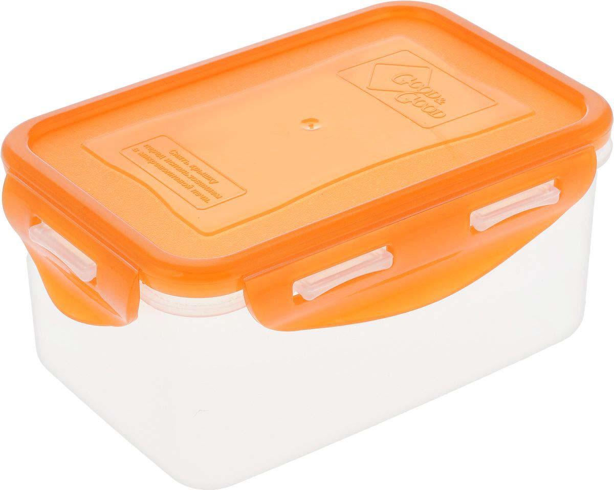 Контейнер для пищевых продуктов Good&Good, R2-2, прозрачный, оранжевый, 780 мл