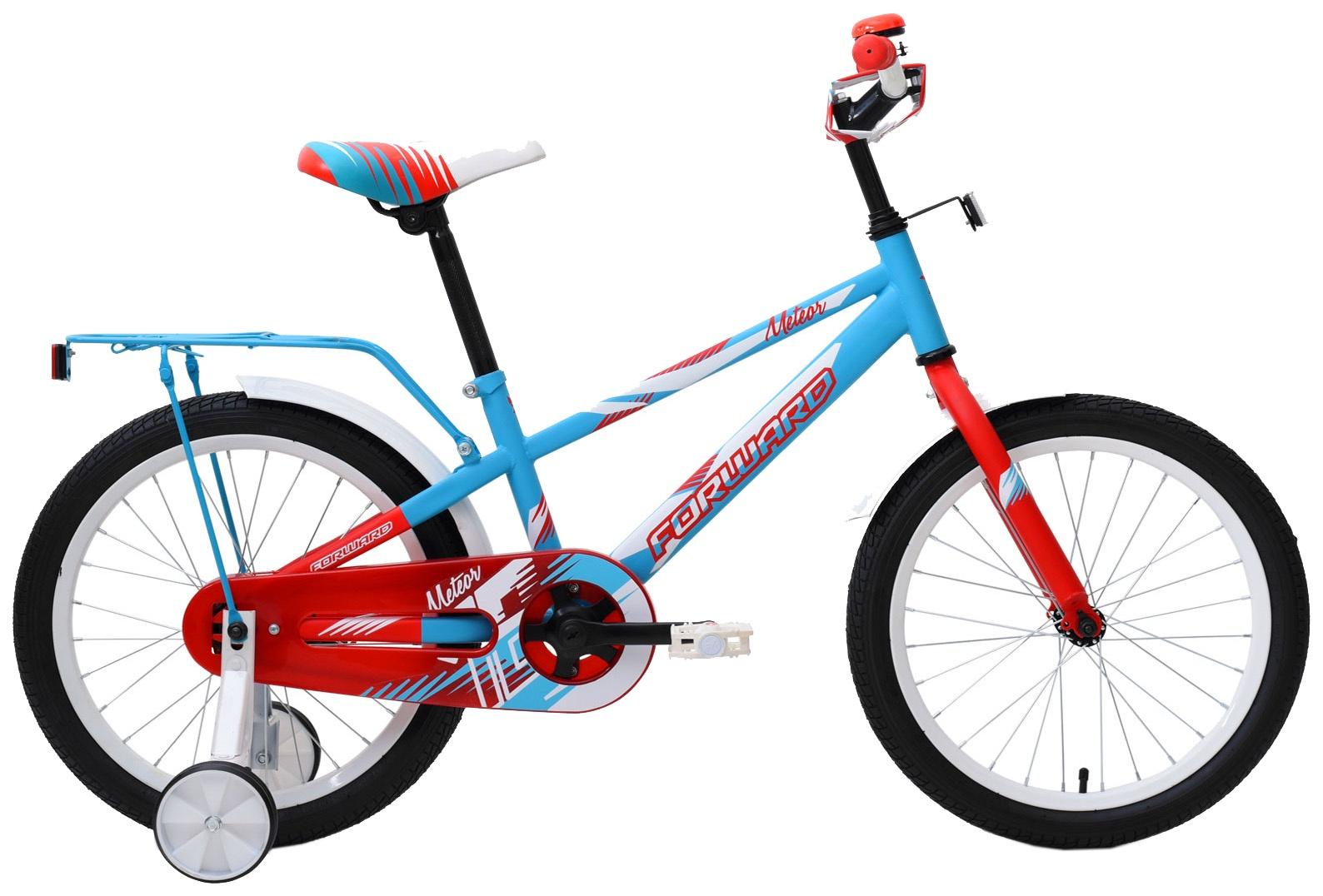 Велосипед Forward METEOR 18, RBKW9LNH1004, бирюзовый, красный