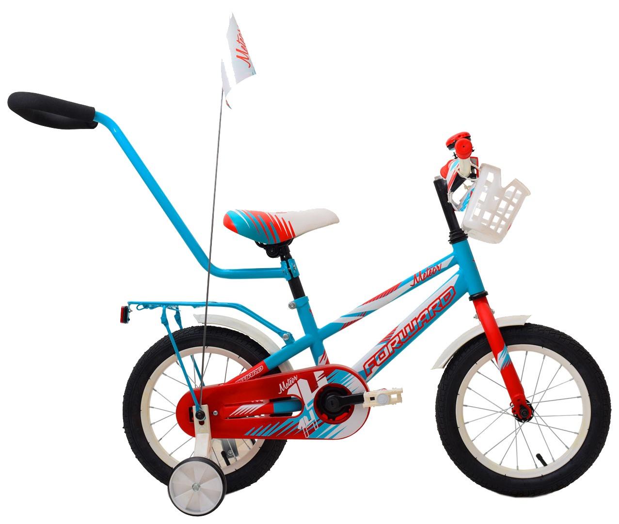 Велосипед Forward METEOR 14, RBKW9LNF1003, бирюзовый, красный