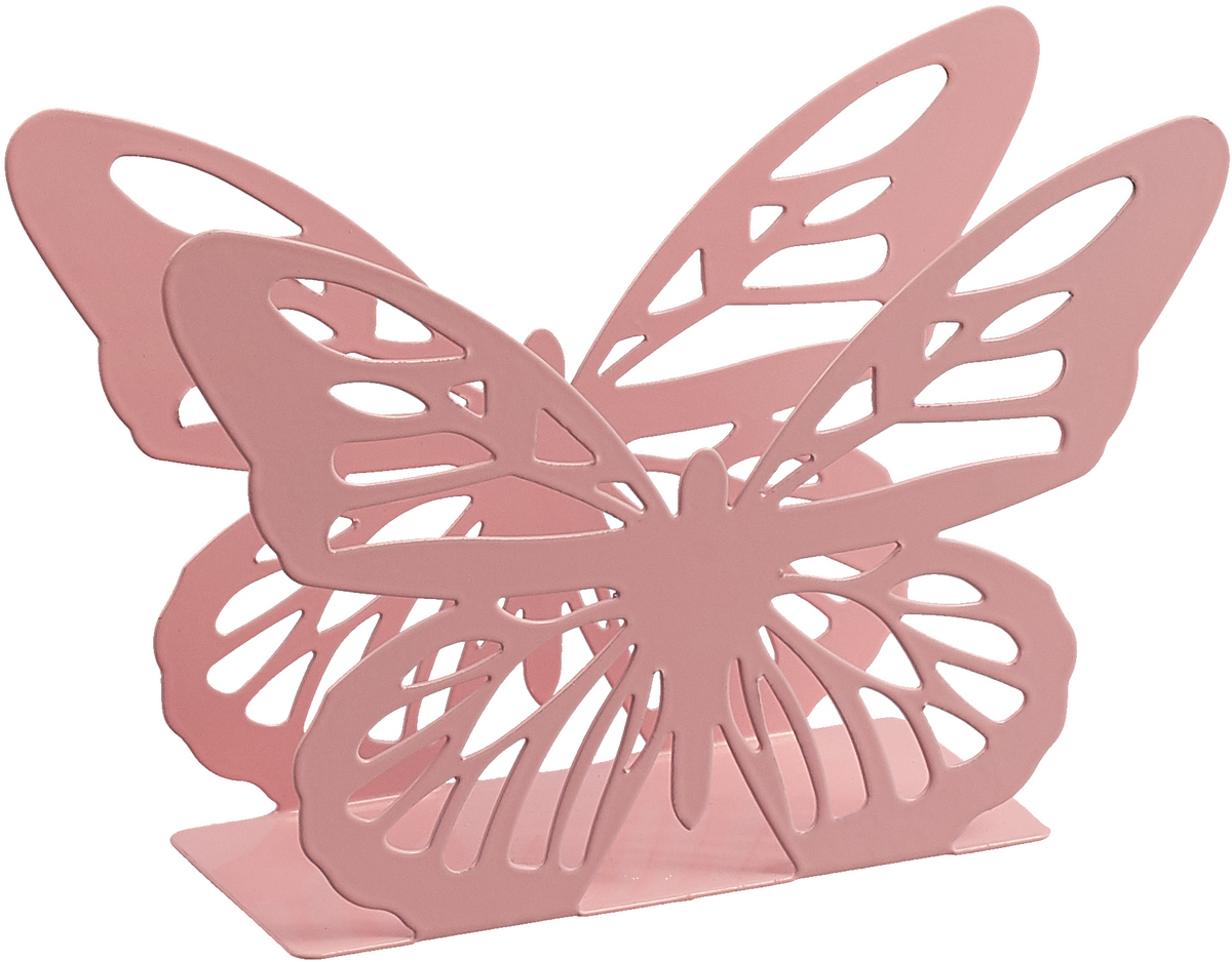 Салфетница Доляна Бабочка, розовый, 13.5 х 4 х 9 см салфетница доляна уголок 13 х 6 х 8 см