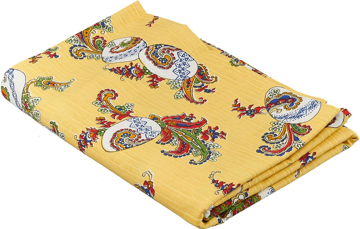 Скатерть Гаврилов-Ямский Лен, 1со6736-5, желтый, 145 x 150 см цены онлайн