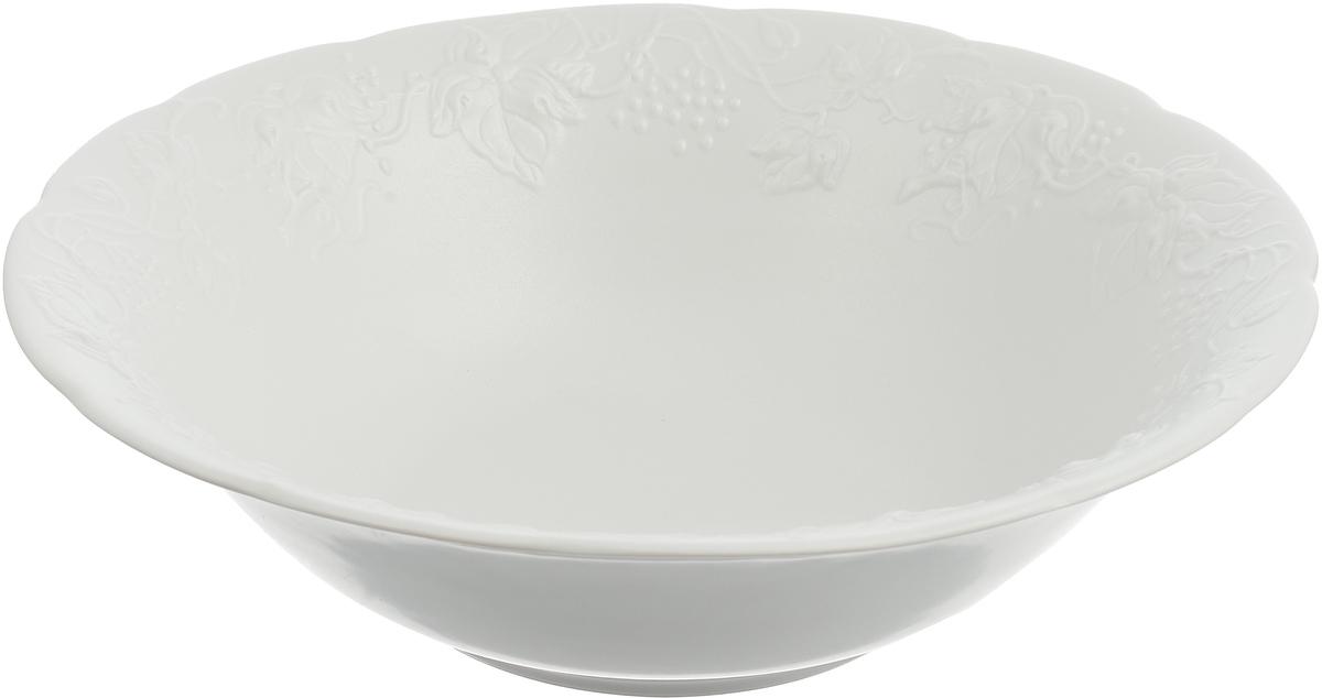 Салатник La Rose des Sables Blanc, 3101625, белый, диаметр 25 см блюдо la rose des sables blanc 3101824 белый диаметр 24