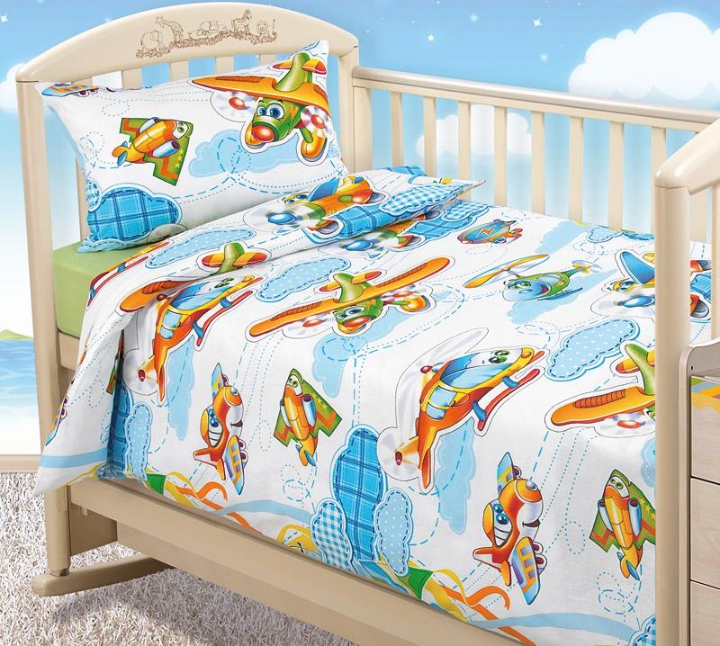 Комплект в кроватку Бамбино комплект детский размер ясли, 8106АТОтвинта, зеленый, белый, голубой, желтый