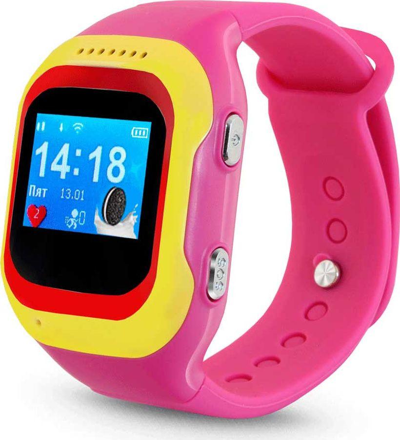 Умные часы детские Ginzzu GZ-501, розовый детские умные часы ginzzu gz 521 brown