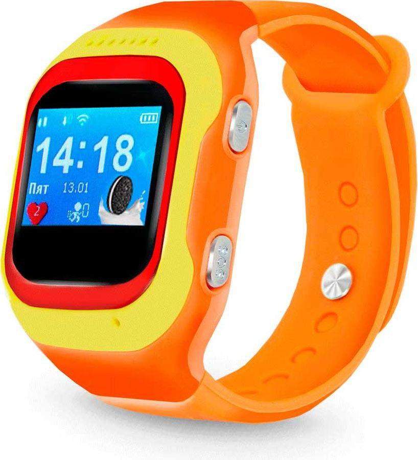 Умные часы детские Ginzzu GZ-501, оранжевый цена и фото