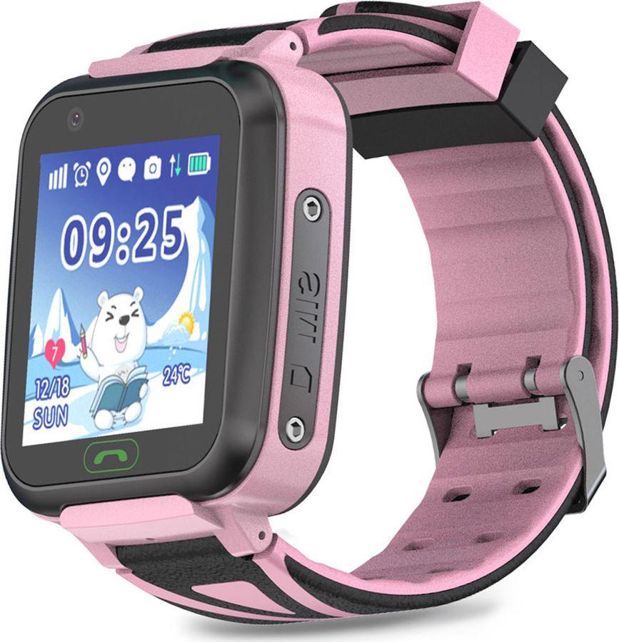 Умные часы детские Ginzzu GZ-509 Touch, розовый цена и фото