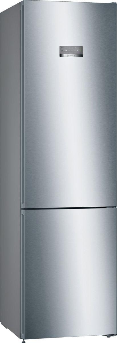 Холодильник Bosch KGN39VL22R, двухкамерный, нержавеющая стальKGN39VL22RBosch KGN39VL22R - холодильник двухкамерный NoFrost с изолированной зоной VitaFresh 0 ° C сохраняют свежесть продуктов до 3-х раз дольше. Холодильники Bosch с технологией VitaFresh сохраняют свежесть продуктов до 3-х раз дольше, поддерживая оптимальную температуру и уровень влажности. В дополнительных ящиках для хранения мяса и рыбы VitaFresh 0 ° возможна регулировка температуры. Холодильник имеет одно из самых больших холодильных отделений (279 л) среди 2-метровых холодильников своего класса. Загружать и доставать продукты из холодильника проще благодаря выдвижным полкам EasyAccess. Свежесть в холодильнике обеспечивает специальный угольный фильтр AirFresh, который абсорбирует и нейтрализует неприятные запахи и бактерии в течение всего срока службы прибора. Идеальное расположение: холодильник можно установить вплотную к стенам и мебели, без зазоров сзади и по бокам; дверь холодильника открывается на 90°, при этом его полки и ящики выдвигаются полностью. Крупногабаритный товар.